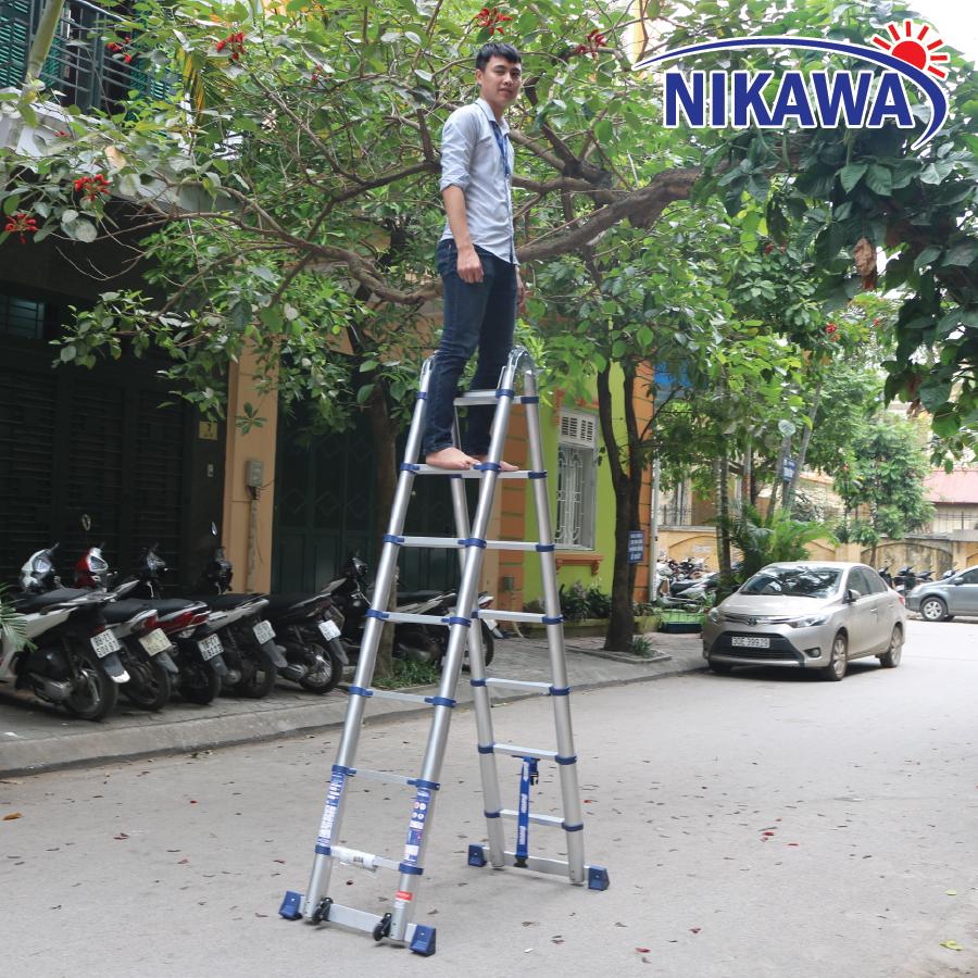 Thang nhôm rút nikawa nk-38AI