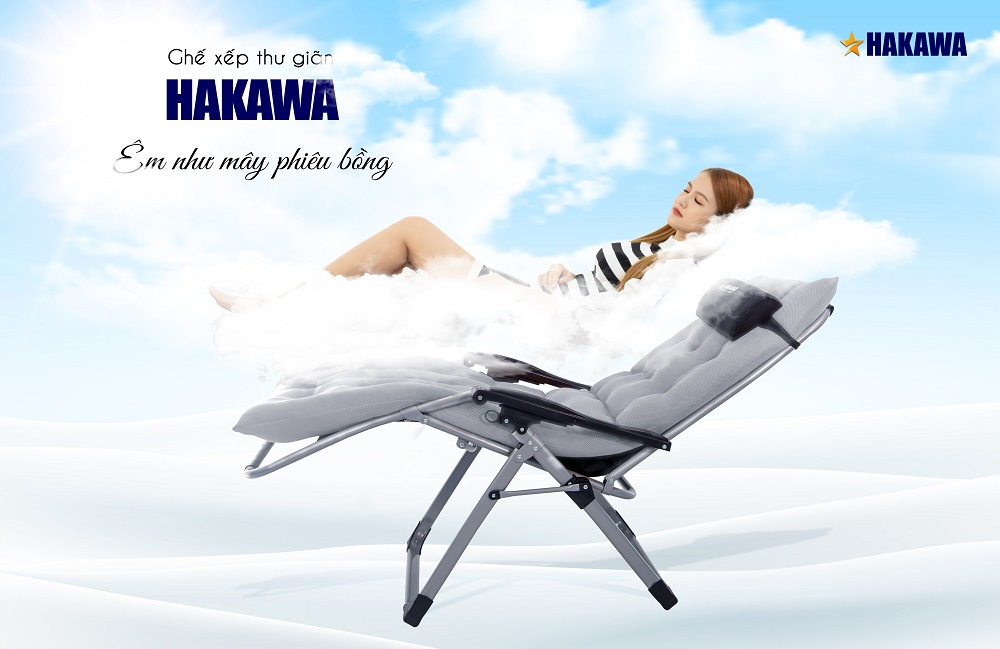 ghế xếp thư giản Hakawa