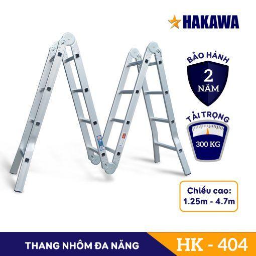 Thang Nhôm Gấp 4 Khúc Đa Năng HAKAWA HK-404 (New)