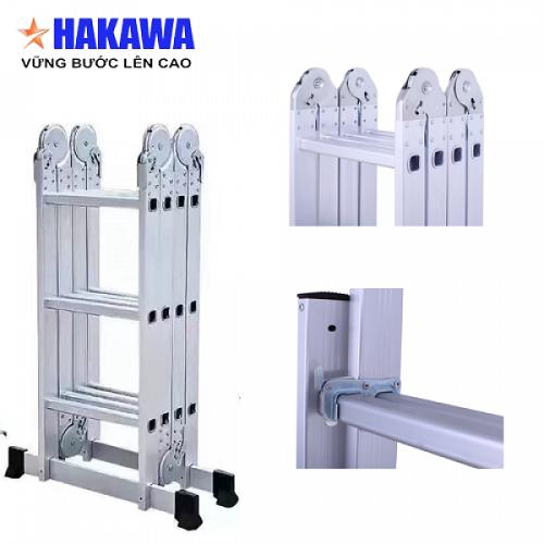 Thang nhôm gấp Hakawa 4 khúc HK - 406 (7m)