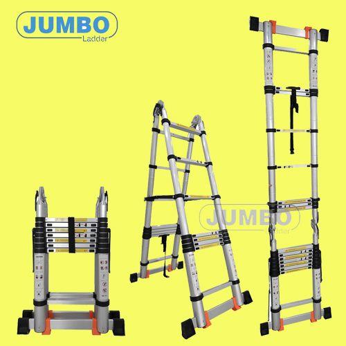 Thang nhôm rút cao cấp JUMBO A220(2.2m)