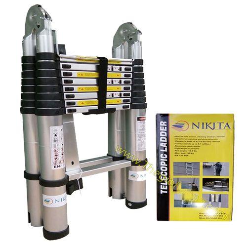 Thang nhôm rút chữ A 4m NIKITA NKT-80AI(4m)