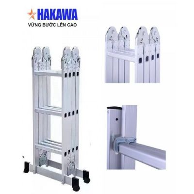 Thang nhôm gấp HAKAWA 4 khúc HK-406(7m)
