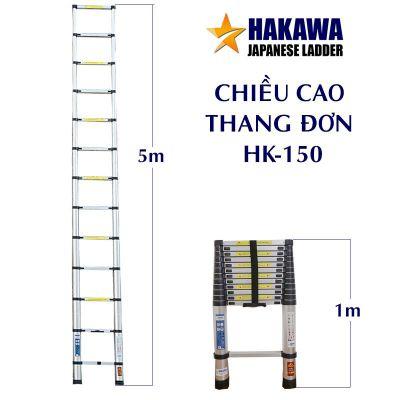 Thang nhôm rút 5m HAKAWA HK-150