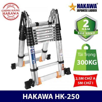 Thang nhôm rút cao cấp chữ A HAKAWA HK-250( 5m)