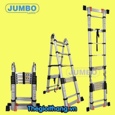 Thang nhôm rút chữ A cao cấp JUMBO A190
