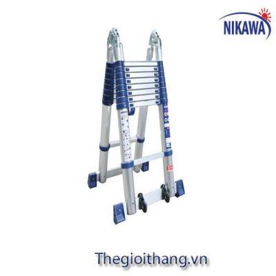 Thang Nhôm Rút Đôi Nikawa NK-44AI