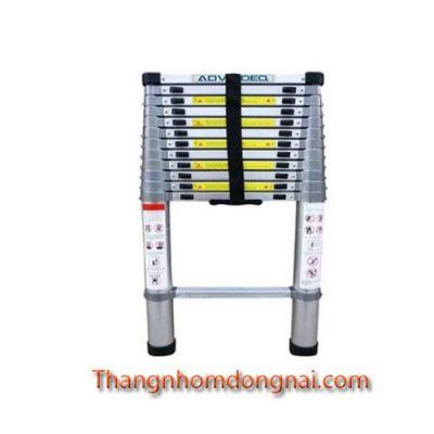 Thang nhôm rút đơn đai nhôm 4.8m Advindeq ADT214F