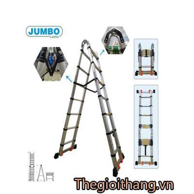 Thang rút nhôm chữ A cao cấp JUMBO A280